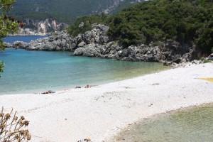 Paleokastritsa strand på korfu