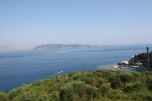 Utsikt fra Korfu - Her ser vi Albania