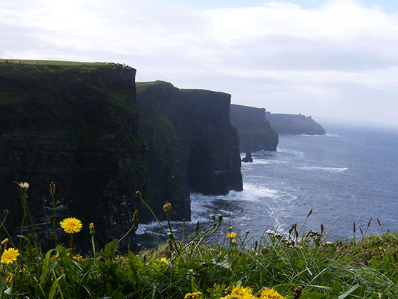 Cliffs of Moher i Irland.