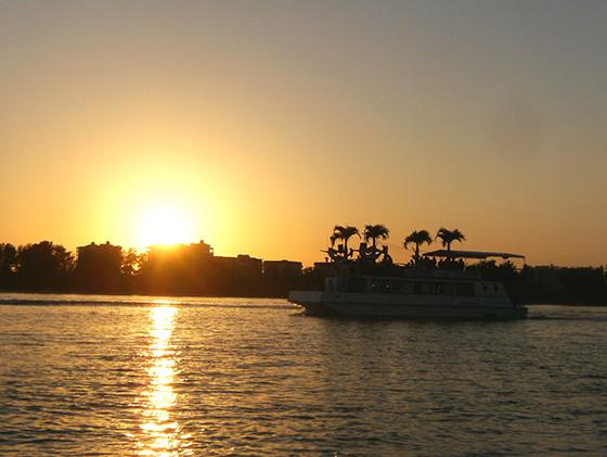 Solnedgang i Siesta Keys.