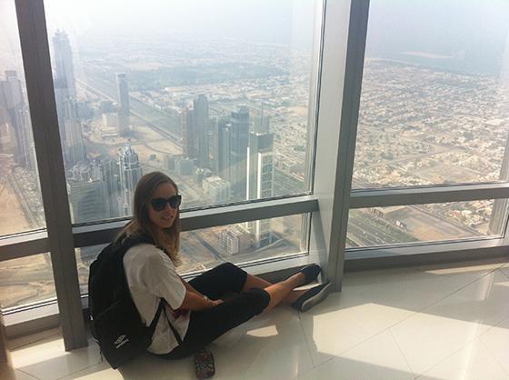 Utsikten fra verdens høyeste tårn.