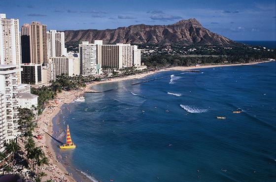 Berømte Waikiki Beach er verdt et besøk.