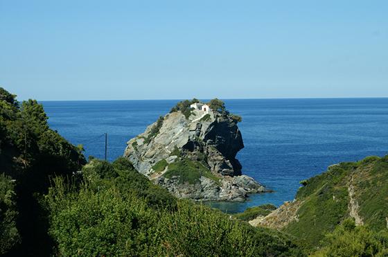 Ag Ioannis kirken på Skopelos. Én av 360 kirker på øya.