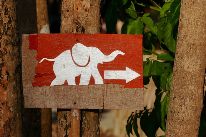 Elephant sign, Thailand
