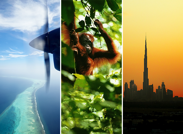 Maldivene, Malaysia og Dubai
