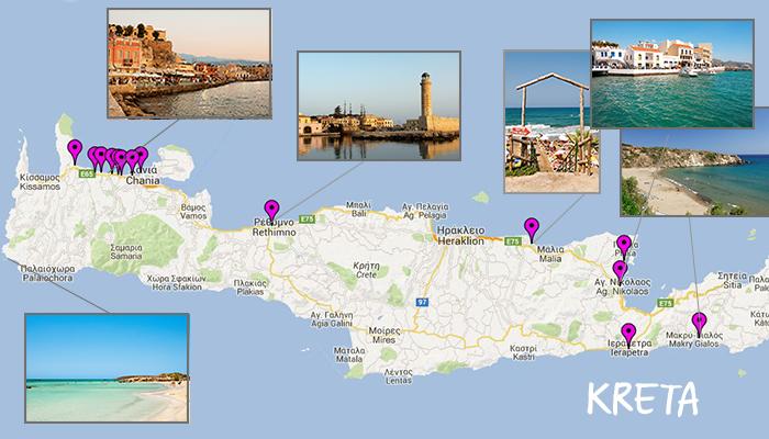 Kreta map oversikt TOPPBILDE