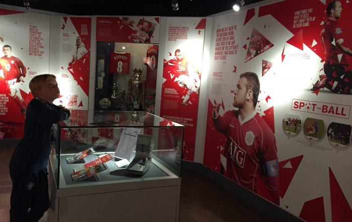 MUSEUM: Old Trafford huser også et stort museum som foteller historien til den tradisjonsrike fotballklubben.