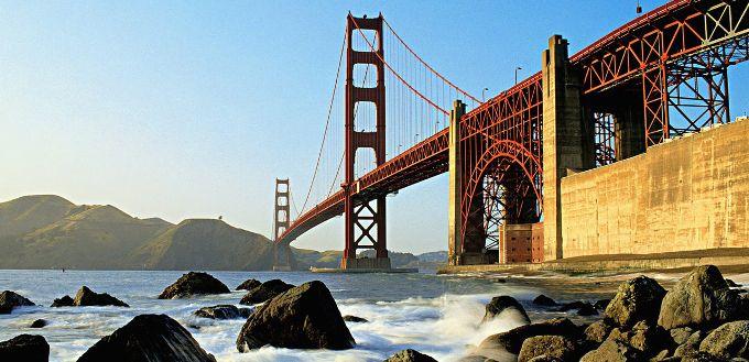 GOLDEN GATE: Alcatraz, Fisherman's Wharf og hippiestrøket Haight-Ashbury står på manges must see-liste i San Francisco. I tillegg til den ikoniske Golden Gate-broen, selvfølgelig.
