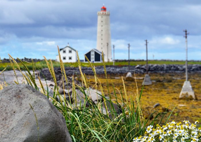 Grótta fyrtårn, Seltjarnarnes. Foto: Turid Lismoen