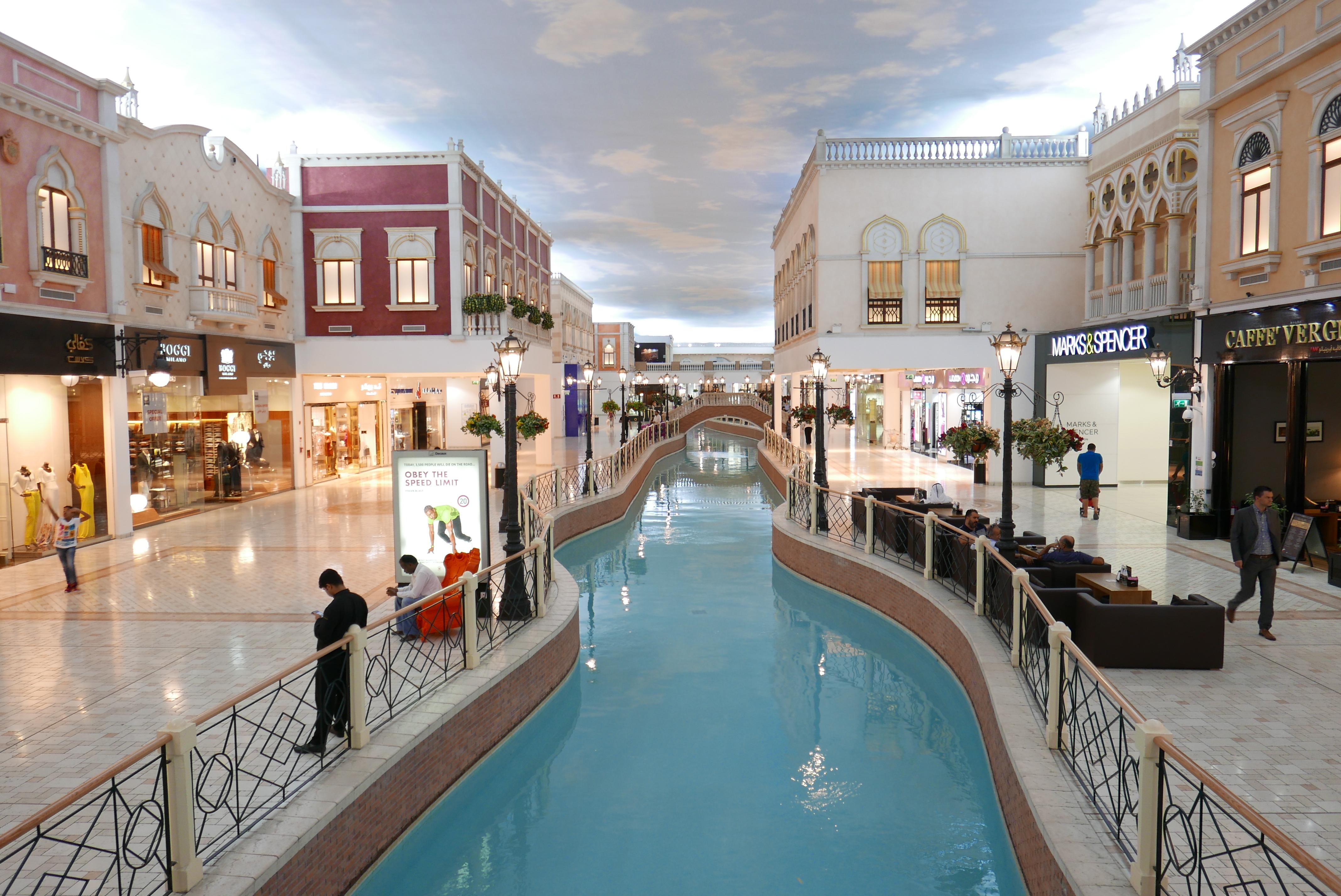 Bildetekst: Venezia? The Venetian? Neida – dette er kjøpesenteret Villagio i Doha.