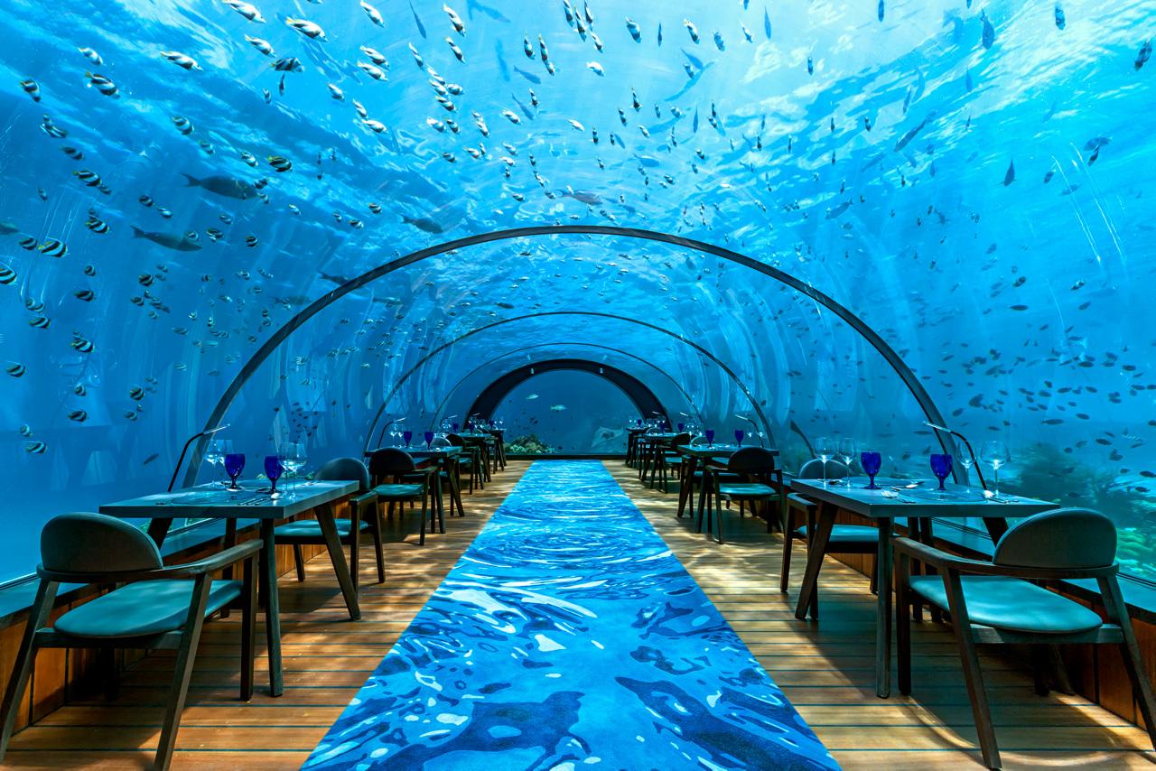 Bildetekst: 5.8 Undersea Restaurant byr på en matopplevelse du sent vil glemme.